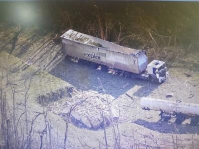 Caminhão explode em Bocaiúva do Sul...
